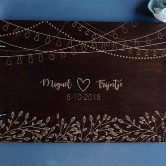 houten trouwalbum zomernacht
