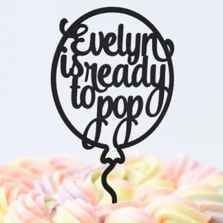 cake topper ballon ready to pop