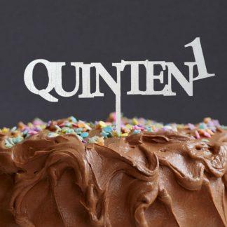 cake topper met naam voor verjaardag