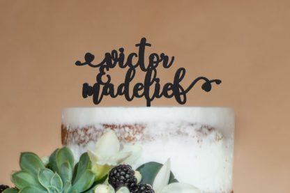 gepoersonaliseerde taarttopper voor trouwfeest