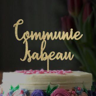 taarttopper communie gepersonaliseerd